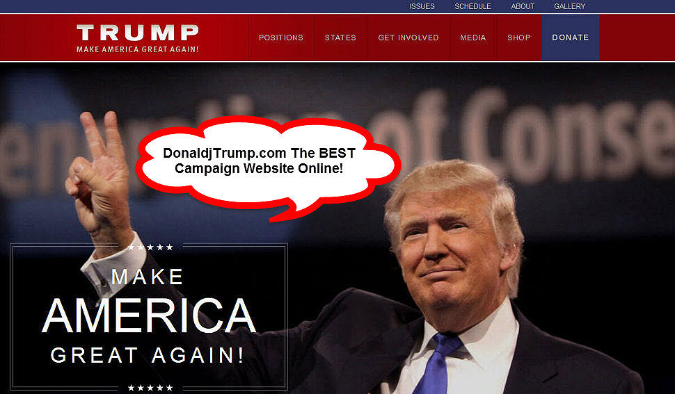 Donald Trump's Campaign Website Is The Best Online!