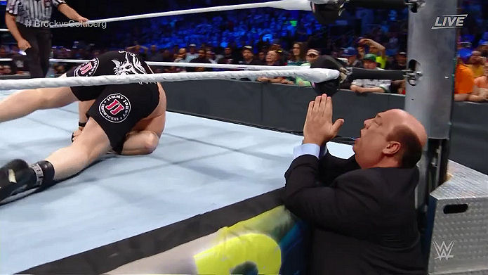 Paul Heyman Prays As Goldberg Slaughters The Beast