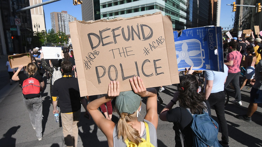 political bias media defund police